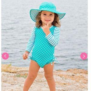Ruffle butts polka dot one piece swimsuit